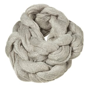 крючком и спицами. вязаный шарф-хомут.