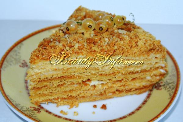 Медовый торт рыжик классический